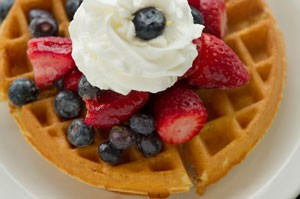 Waffle With Berries.