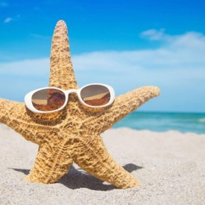 starfish with sunglasses